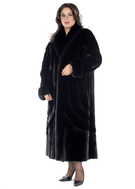 madisonavemall Designer Mink Fur Plus Coat