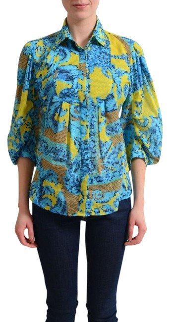 Preload https://img-static.tradesy.com/item/22084233/versace-collection-multi-color-button-front-women-s-shirt-blouse-size-4-s-0-1-650-650.jpg