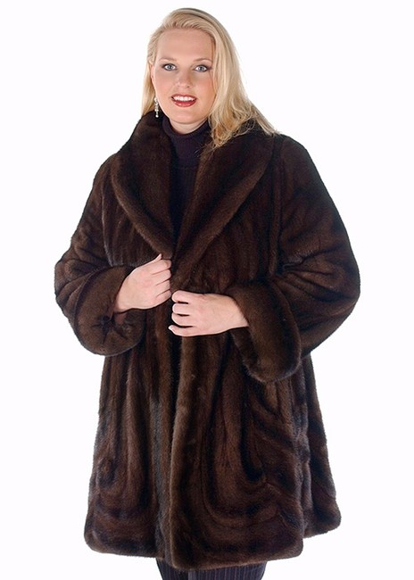 madisonavemall Real Fur Real Mink Womens Fur Mink Fur Womens Mink Brown Jacket