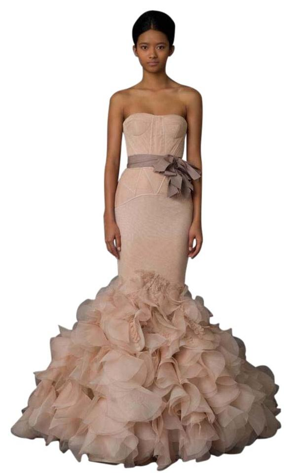 de04f12cbf2c5 Vera Wang Bridal Blush Silk Holly Modern Wedding Dress Size 8 (M ...