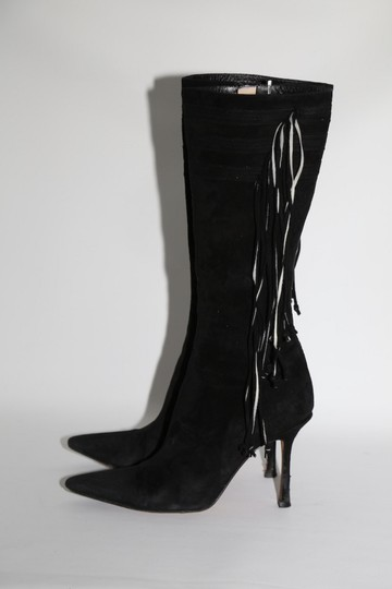 Jimmy Choo Pointed Toe Black Boots