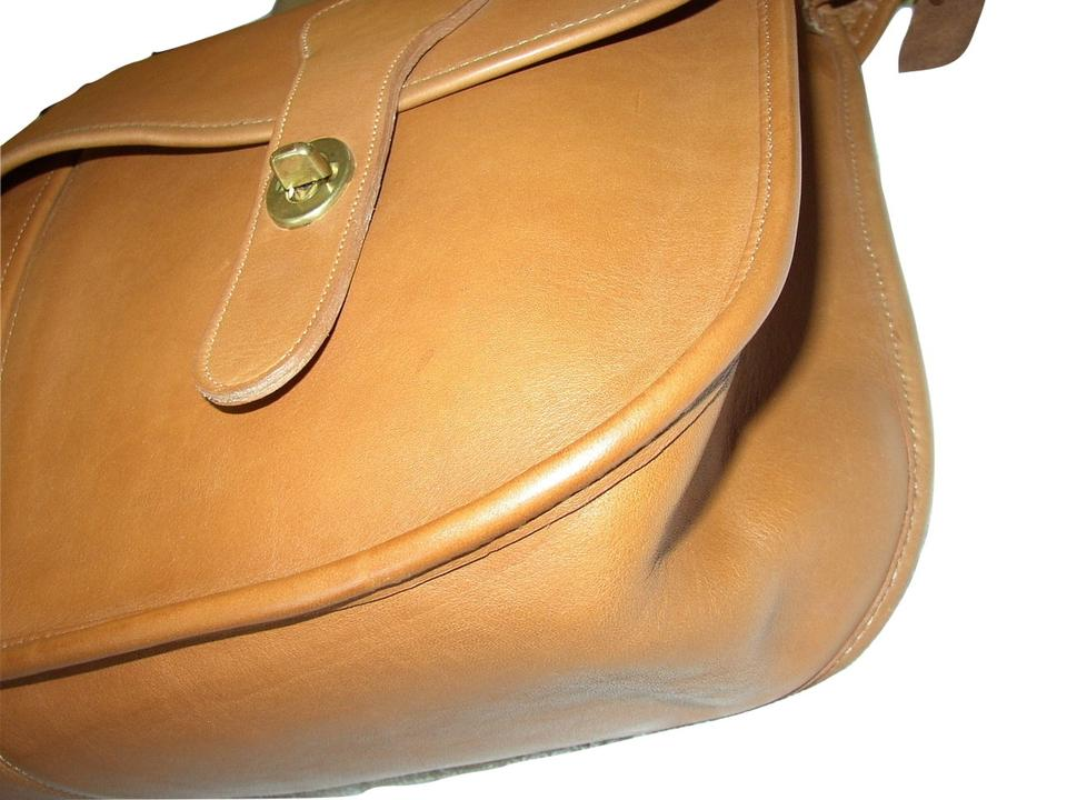 48e5dc7165 Coach Reconditioned Carrier Vintage Nyc Mint Condition British Tan Glove  Leather Messenger Bag - Tradesy
