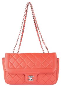 Chanel Vintage Double Flap Lambskin Quilted Luxury Shoulder Bag