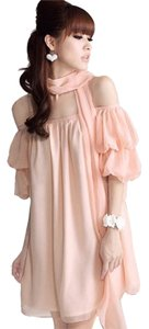 Blingor short dress Pink Open Shoulder Lantern Sleeves on Tradesy