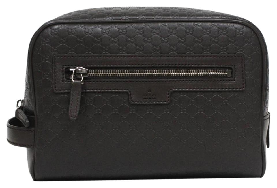 39db4c3dfda4af Gucci Gucci Men s Leather Micro GG Guccissima Large Toiletry Dopp Bag  419775 Image 0 ...