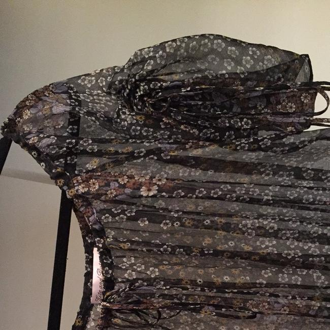kite and butterfly Top black