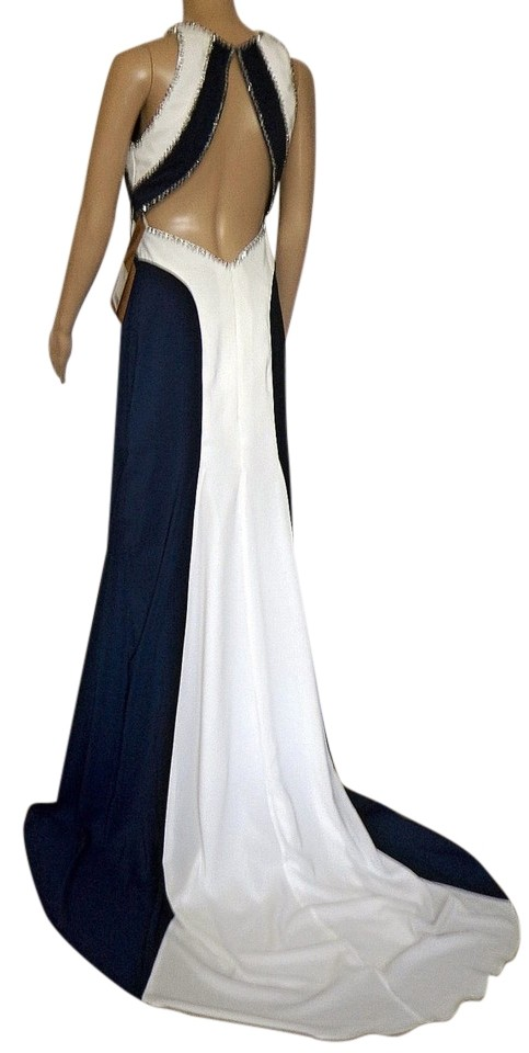 Lightinthebox Blue White Contrast Color With Back Tail Long Formal