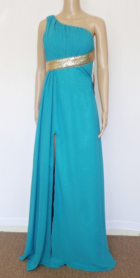 Lightinthebox Jade One Shoulder Backless Long Formal Dress Size 2
