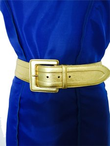 Ralph Lauren Gold Leather belt Lauren by Ralph Lauren, size S-M.