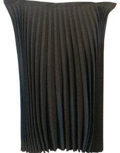 Andrea Viccaro Solid Pleated Long Length Formal Maxi Skirt Black