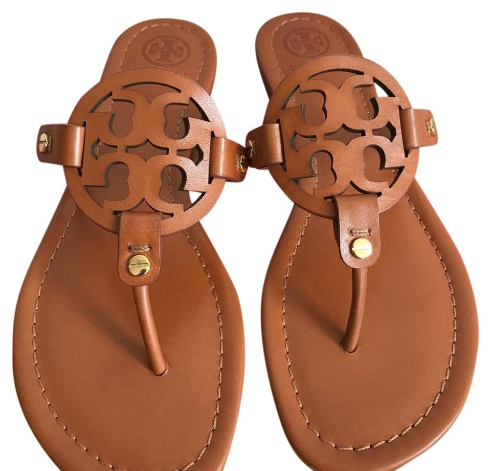 Tory Burch Leather Vintage Vachette Miller Veg Leather Burch Sandals 96410e