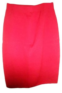 St. John Vintage Knit Pencil Skirt Red