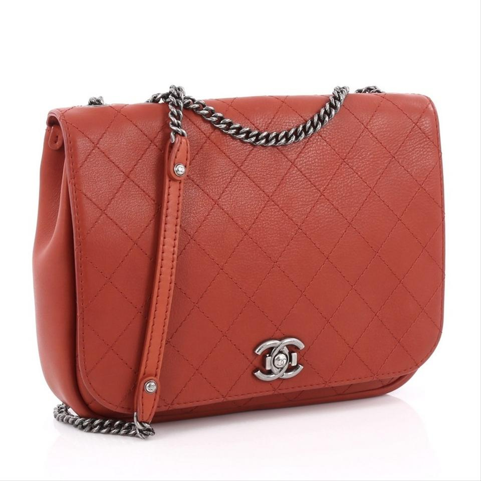 4ae41297694f Chanel Messenger Classic Flap Aged Chain Cc Quilted Calfskin Large Dark Red  Leather Messenger Bag