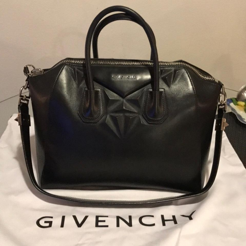 89e9e17ca0 Givenchy Antigona 3d Geometric Figure Medium Handbag Black Calfskin Leather  Shoulder Bag - Tradesy