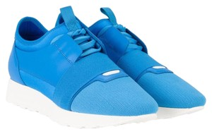Balenciaga Running Runner Trainer Sneaker Leather Blue Athletic