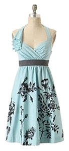Anthropologie short dress Blue Halter Pockets on Tradesy