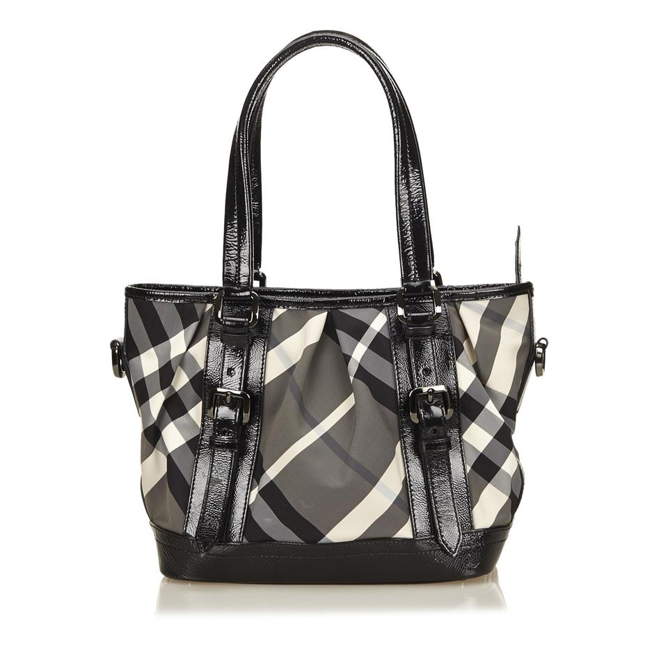 burberry nylon plaid handbag gray baguette on sale 62 off baguettes on sale. Black Bedroom Furniture Sets. Home Design Ideas