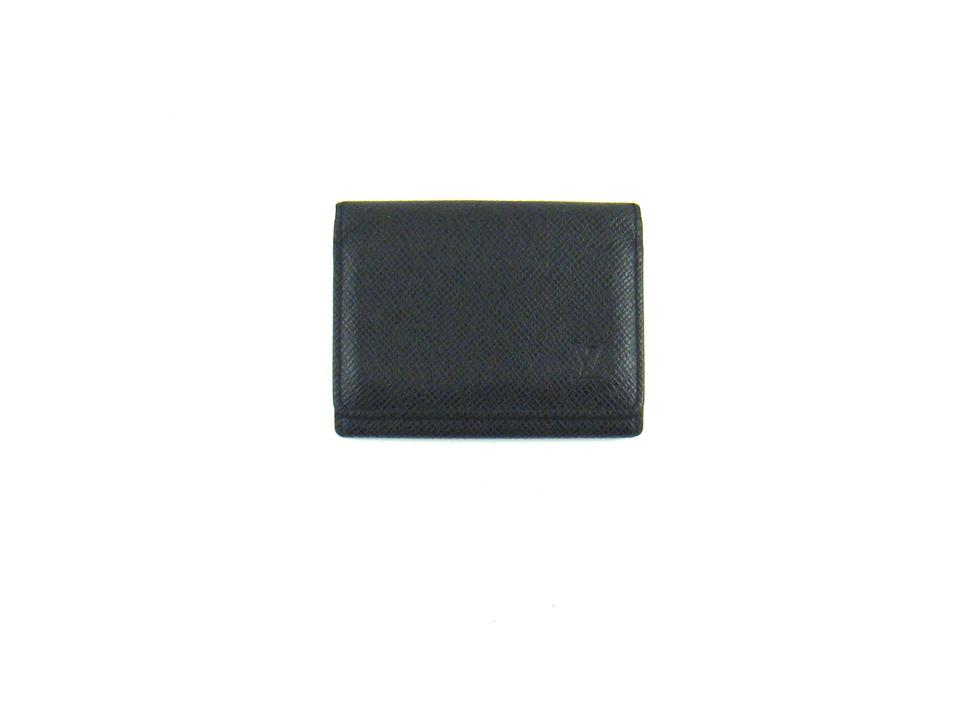 Louis vuitton black taiga leather envelope cartes de visite business louis vuitton taiga leather envelope cartes de visite business card holder reheart Image collections
