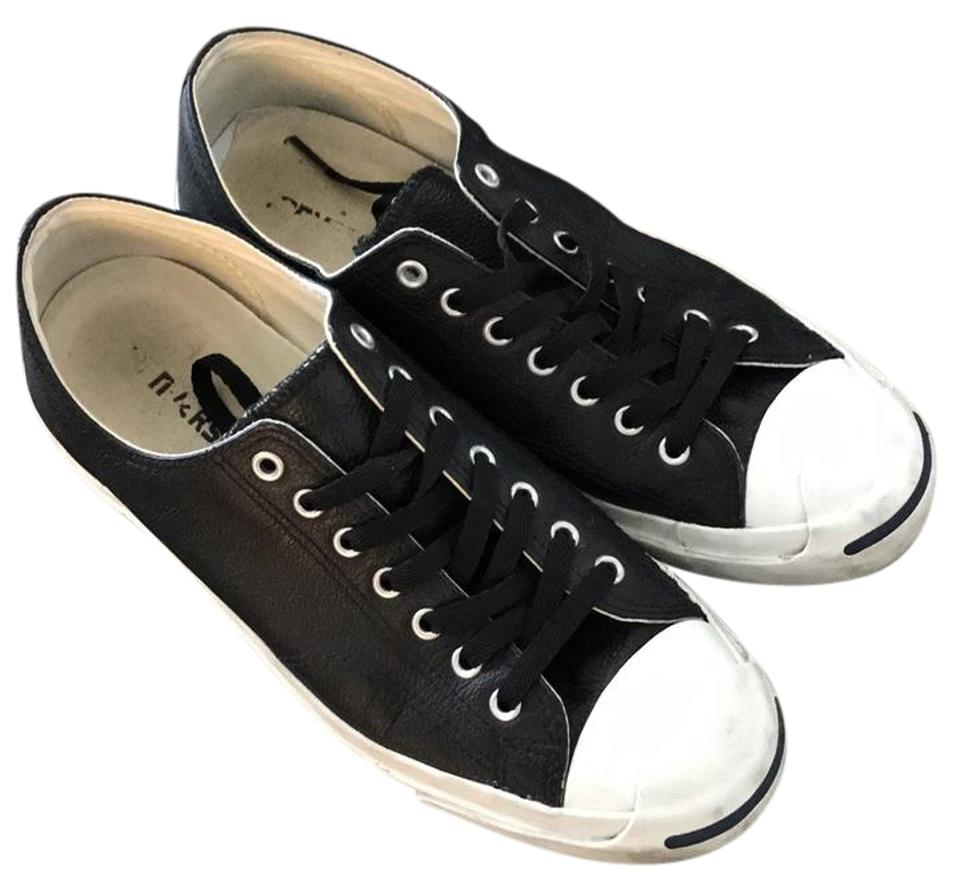 676eb6f22baa44 Converse Black Leather Jack Purcell Sneakers Size US 11 Regular (M ...