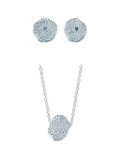 Tiffany & Co. Tiffany Twist Knot Pendant & Earrings Set with Box
