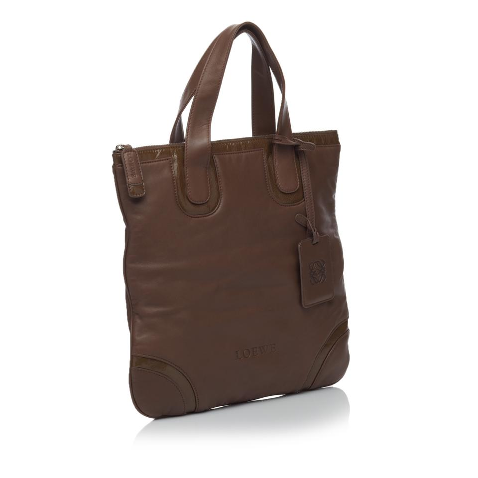 X Leather Loewe Others Tote Brown x0q6wfH