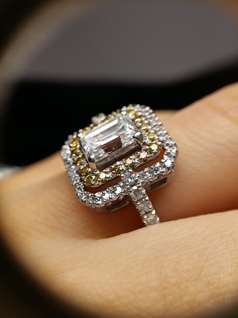 Item - Double Halo 2.65 Ct Emerald Cut Gia Certified Diamond Engagement Ring