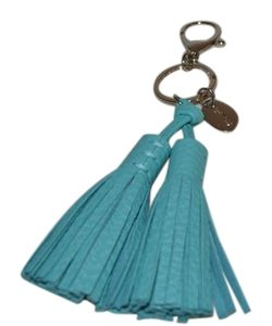 T.J.Maxx NEW TJMAXX LARGE TASSEL BAG CHARM BLUE KEY FOB RING