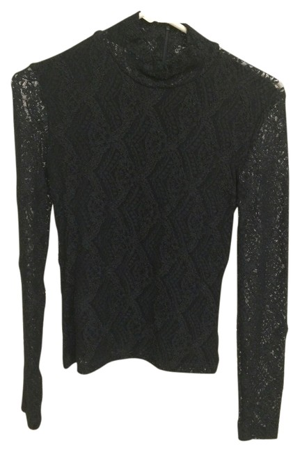Preload https://img-static.tradesy.com/item/2208802/bisou-bisou-black-lace-sexy-mock-turtleneck-evening-night-out-top-size-4-s-0-0-650-650.jpg