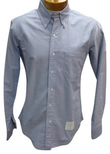 Thom Browne Givenchy Valentino Gucci Versace Monogram Button Down Shirt Blue