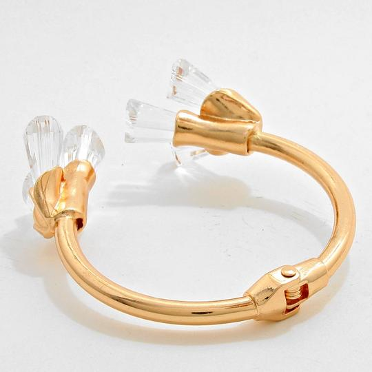 Other Gold Tone Petal Stone Cuff Bracelet