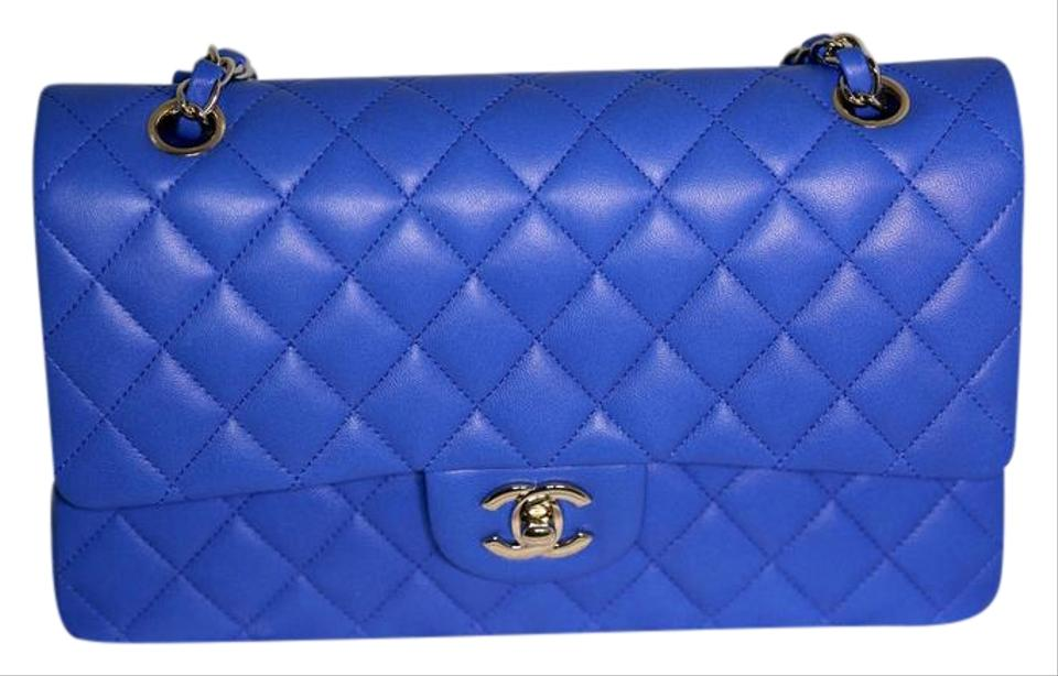 fb6a8106615792 Chanel Flap New and Classic Royal Blue Lambskin Leather Shoulder Bag ...