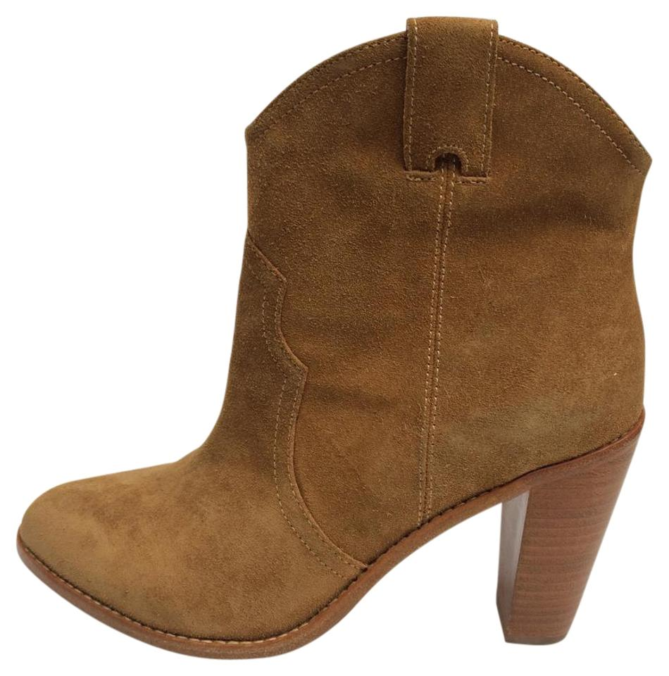 Joie New Camel/Whiskey New Joie Monte Suede Leather Boots/Booties 5c842b