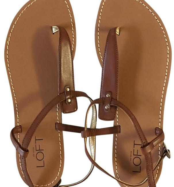 Item - Brown Leather with Buckle Sandals Size US 6 Regular (M, B)