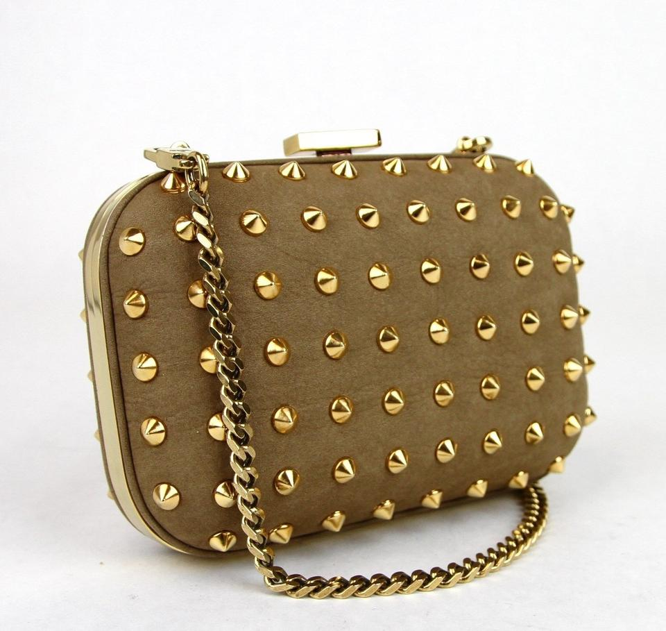 Gucci Broadway New Studded Evening 2974 Brown Leather Clutch - Tradesy 15174567a8bee