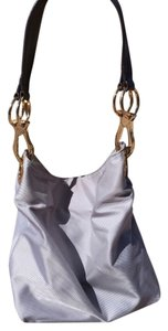 JPK Paris Classy Unique Leather Strap Bold Brass Hardware Gently Used Hobo Bag