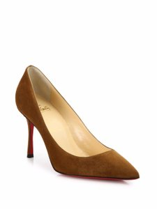 Christian Louboutin Suede Pointed Toe Indiana Pumps