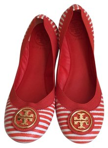 Tory Burch red and white Flats