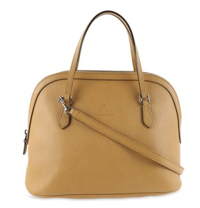 Gucci Leather Dome Satchel in Brown