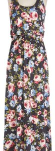 black and colorful flowers Maxi Dress by Modcloth