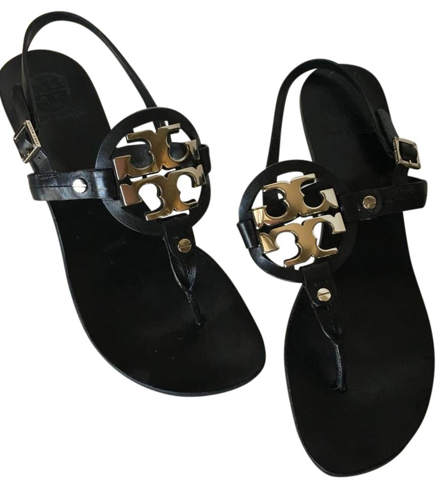 fdd3abb5991f08 Black with Silver Hardware Sandals Size US 9 Regular (M