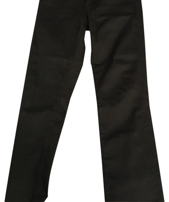 Item - Black Dark Rinse Mid-rise Cigarette Boot Cut Jeans Size 29 (6, M)