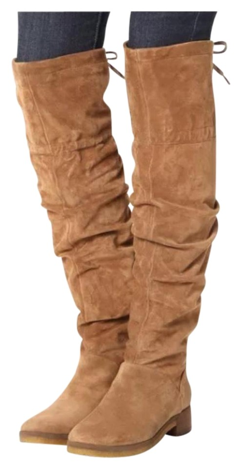 bc8e23f7498 See by Chloé Camel Suede Jona Slouch Over The Knee Boots Booties ...