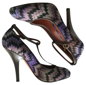 Missoni Zigzag Leather Heels purple Pumps