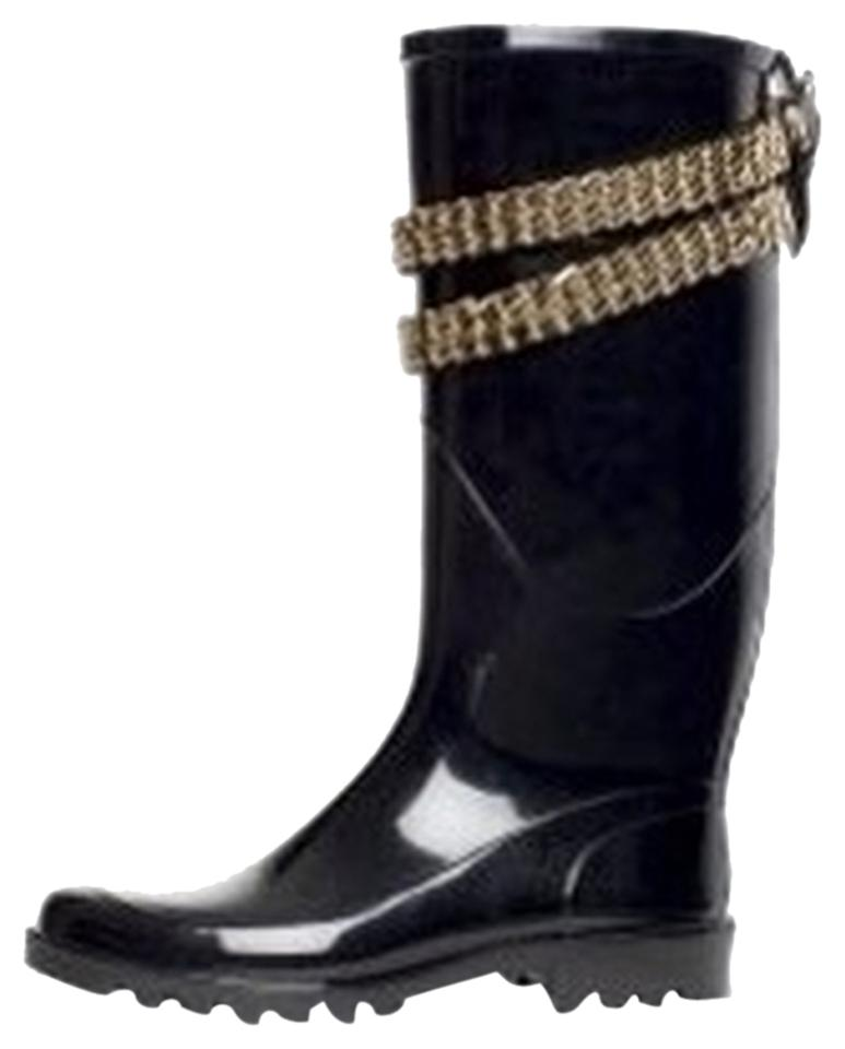 MISS Burberry Quality Black Wellington Exclusive Boots/Booties Quality Burberry first 40a3a4
