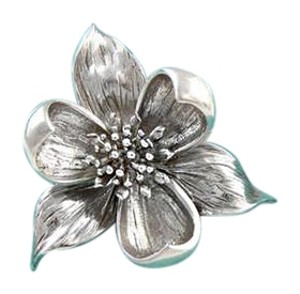 Tiffany & Co. Stunning 1960s Antique Tiffany & Co Flower Brooch Sterling Silver