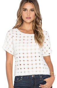 Amuse Society Cut-out Casual Classic Raw Cut Top White