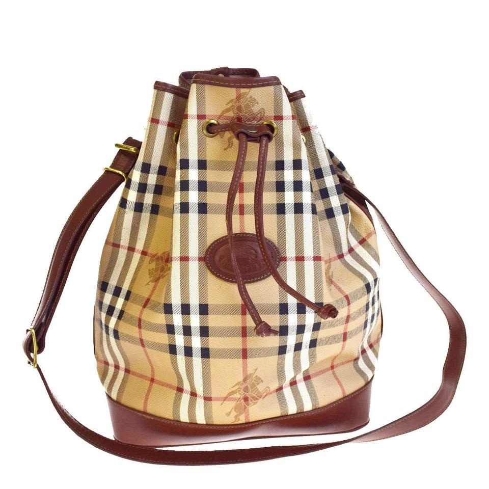 433c6b93582 Burberry Mint Vintage Drawstring Top Popular Print Great For Every Day  Satchel in Nova Check plaid ...