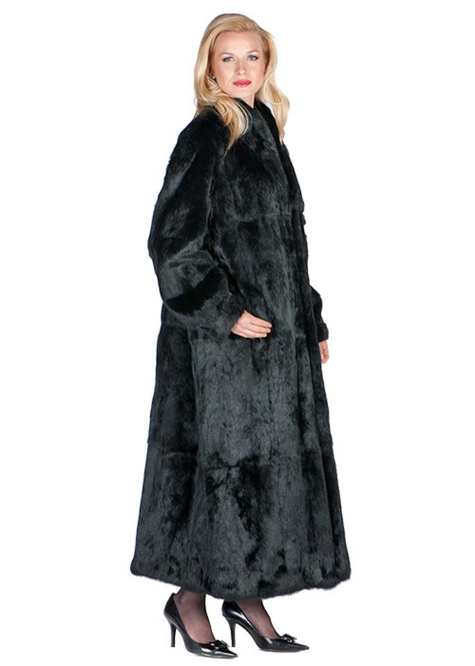 146ccf4ebd0 Black Rabbit Fur Coat-mandarin Collar- Coat Size 20 (Plus 1x) - Tradesy