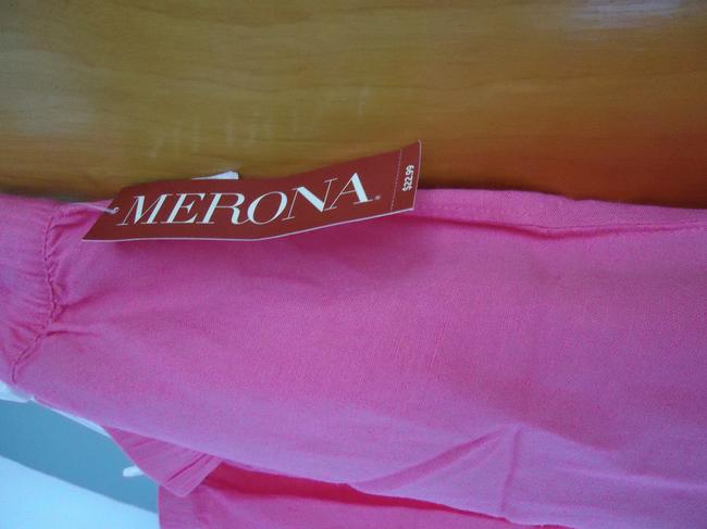 Merona New Linen Summer Mini Skirt Hot Pink