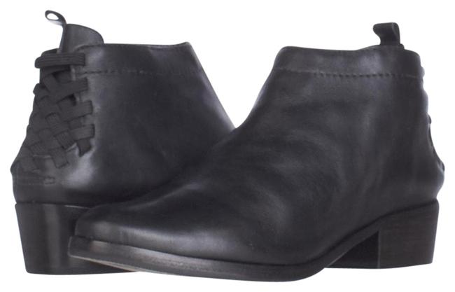 Item - Black Saxon Strap Heel Short Ankle 7.5us/38.5eu Display Boots/Booties Size US 7.5 Regular (M, B)